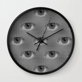 Pop-Art Black And White Eyes Pattern Wall Clock