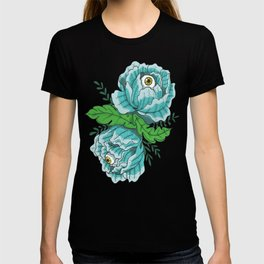 Spooky Blue Roses T-shirt