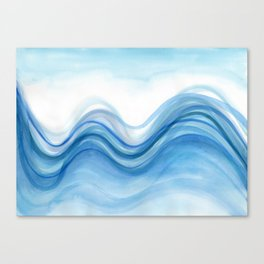 Transparent blue wave Canvas Print