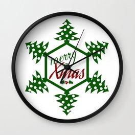 Xmas TreeFlake Wall Clock