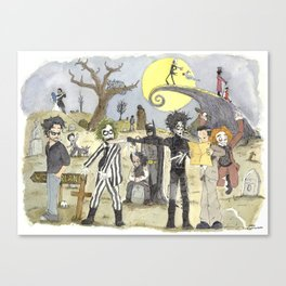Le petit monde de Tim Burton / Tim Burton's little world Canvas Print