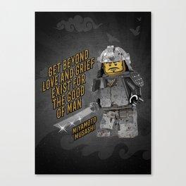 Samurai Miyamoto Musashi Martial Arts quote Canvas Print
