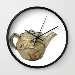 Photograph of Stoneware Teapot, Ceramic Art by Rostislav Eismont of Whipple Hill Art Collective Wall Clock