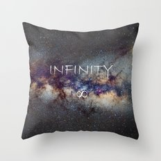 INFINITY STARS IN THE MILKY WAY ∞ Throw Pillow