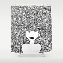 Big Hair Don't Care Shower Curtain