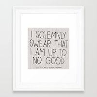 harry potter Framed Art Prints featuring Harry Potter Quote #1 by Marcela Caraballo