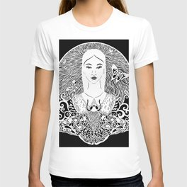 Girl with the moth T-shirt