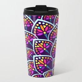 Madeleine Pattern Metal Travel Mug