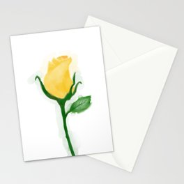 Yellow Tulip Rose Stationery Cards