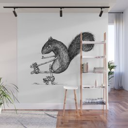 Ride On Squirrel Wall Mural