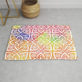 DP050-10 Colorful Moroccan pattern Rug