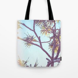 Retro Tropical Palm Tree Tote Bag