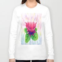 lotus flower Long Sleeve T-shirts featuring Lotus by Lala