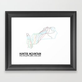 Hunter Mountain, NY - Minimalist Trail Art Framed Art Print