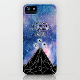 ACOMAF - Bow before no one iPhone Case