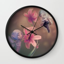 Fairy Dew Wall Clock