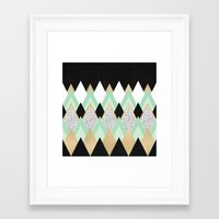 queen Framed Art Prints featuring Queen by Elisabeth Fredriksson