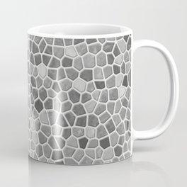 Faux Mosaic in light grays Coffee Mug