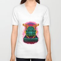 cthulhu V-neck T-shirts featuring CTHULHU by Gerkyart.