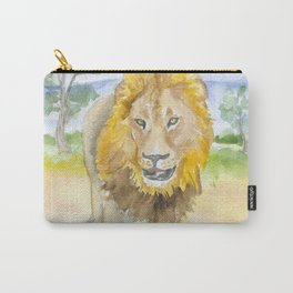 Lion in Africa Watercolor Carry-All Pouch