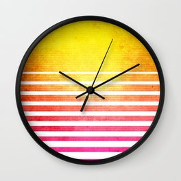 Vintage Retro 80's Synthwave Sun Wall Clock
