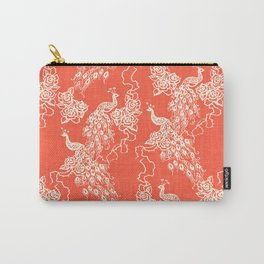PEACOCK - coral Carry-All Pouch