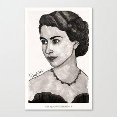 H.M. Queen Elizabeth II Canvas Print