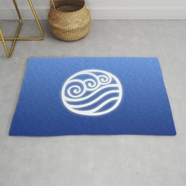 Avatar Water Bending Element Symbol Rug