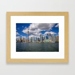 Toronto, Ontario, Canada (Beautiful Skyline of Toronto during the day) Framed Art Print
