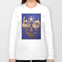 pentagram Long Sleeve T-shirts featuring Pentagram / Crying roses  by i am gao
