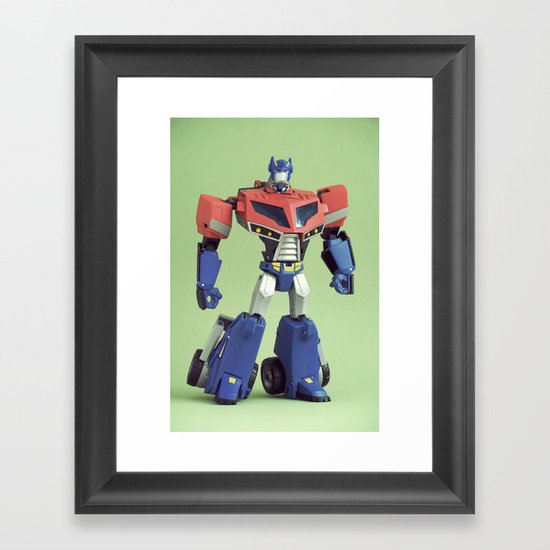 Optimus Prime (Animated) Framed Art Print