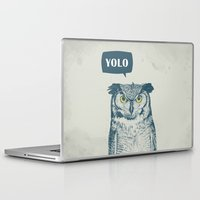 yolo Laptop & iPad Skins featuring YOLO by Balazs Solti
