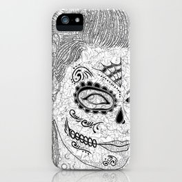 Sugar Skull Ink  iPhone Case