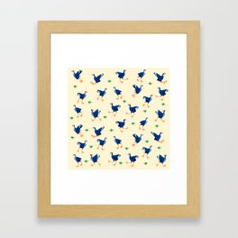 Pukeko swamp hen pattern Framed Art Print