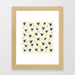 Pukeko swamp hen pattern Framed Art Print
