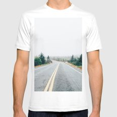 Nature drive Mens Fitted Tee White MEDIUM