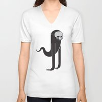 ghost V-neck T-shirts featuring Ghost by parallelish