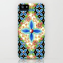 Elizabethan Folkloric Blossoms iPhone Case