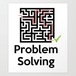 Problem Solving Maze Art Print