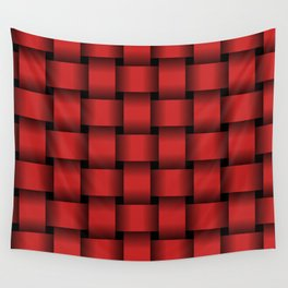 Large Firebrick Red Weave Wall Tapestry