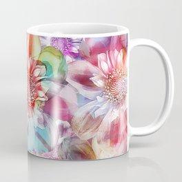 Spring Flowers on Painted Background Coffee Mug