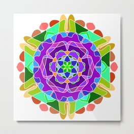 Abstract festive colorful mandala Metal Print