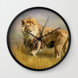 Serengeti King Wall Clock