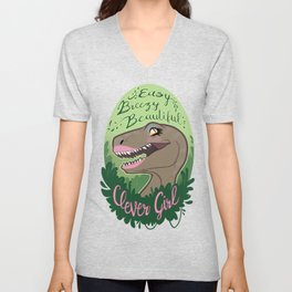 Easy Breezy Beautiful Clever Girl Unisex V-Neck