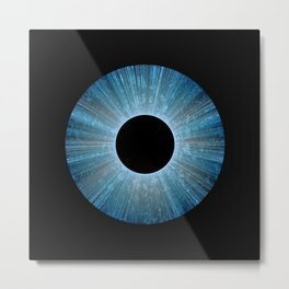 Blue Iris Abstract Universe Art Metal Print