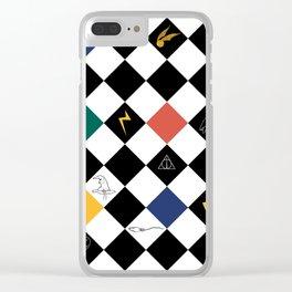 Magical Argyle Clear iPhone Case