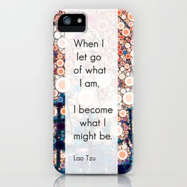 Daily Meditation Quote iPhone Case