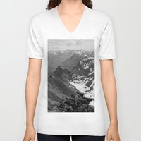 jon snow V-neck T-shirts featuring Archangel Valley by Kevin Russ