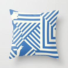 In The Line Throw Pillow