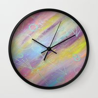 equality Wall Clocks featuring EQUALITY by Valentinas Vanity Artwork